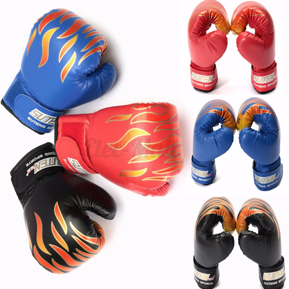 5 OZ Children Kids FIRE Boxing Gloves Sparring Punching