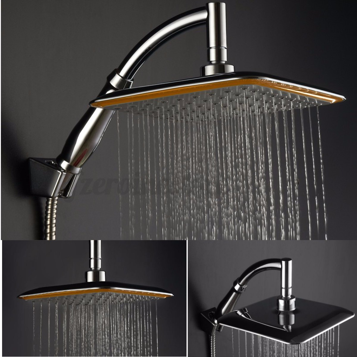 abs rainfall shower head faucet extension shower arm chrome with extension pipe ebay. Black Bedroom Furniture Sets. Home Design Ideas