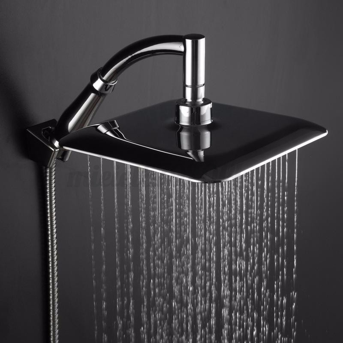 chrome abs rainfall shower head faucet extension with shower arm and hose kit ebay. Black Bedroom Furniture Sets. Home Design Ideas