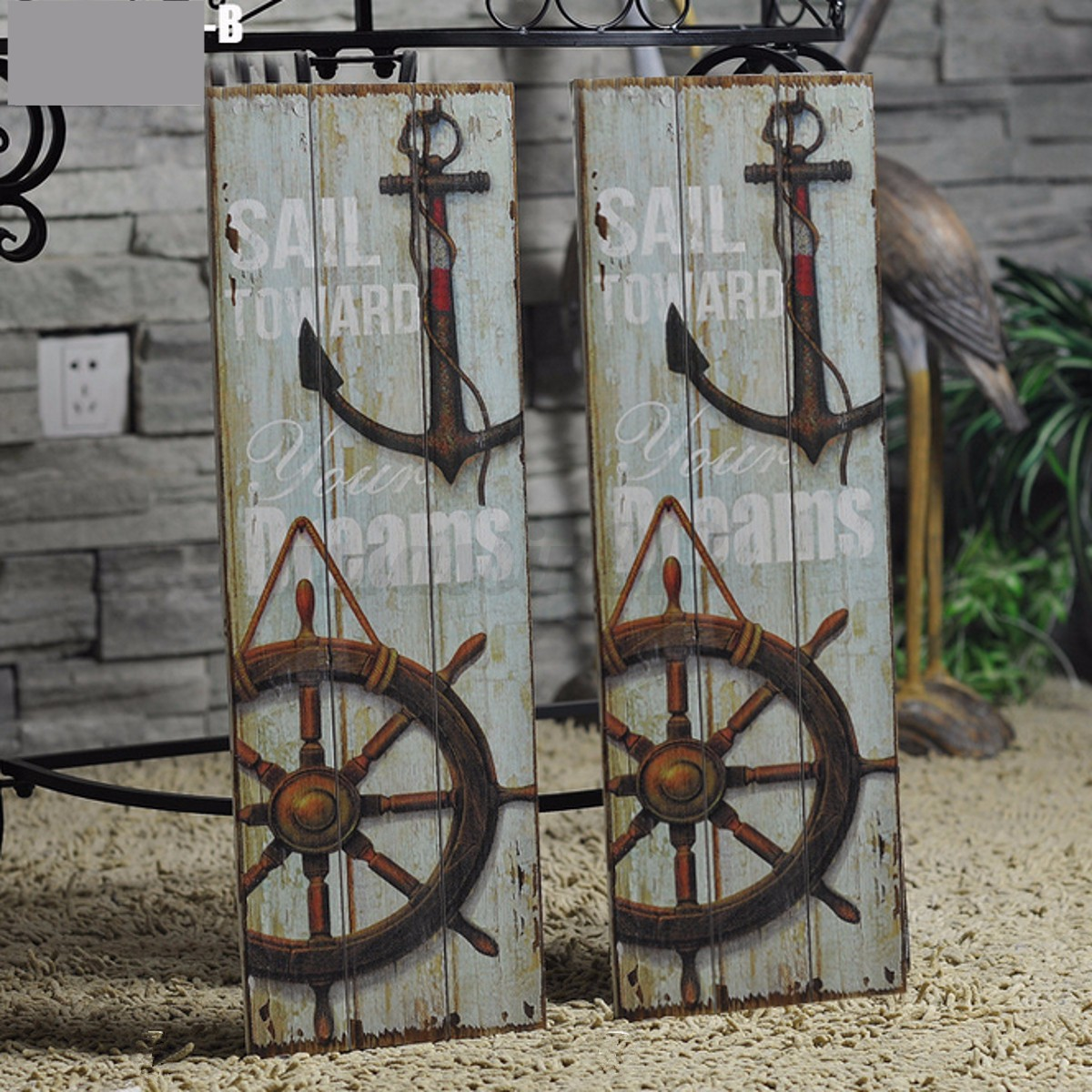 Details About Vintage Anchor Picture Nautical Decor Rustic Wooden Sign Plaque Home Wall