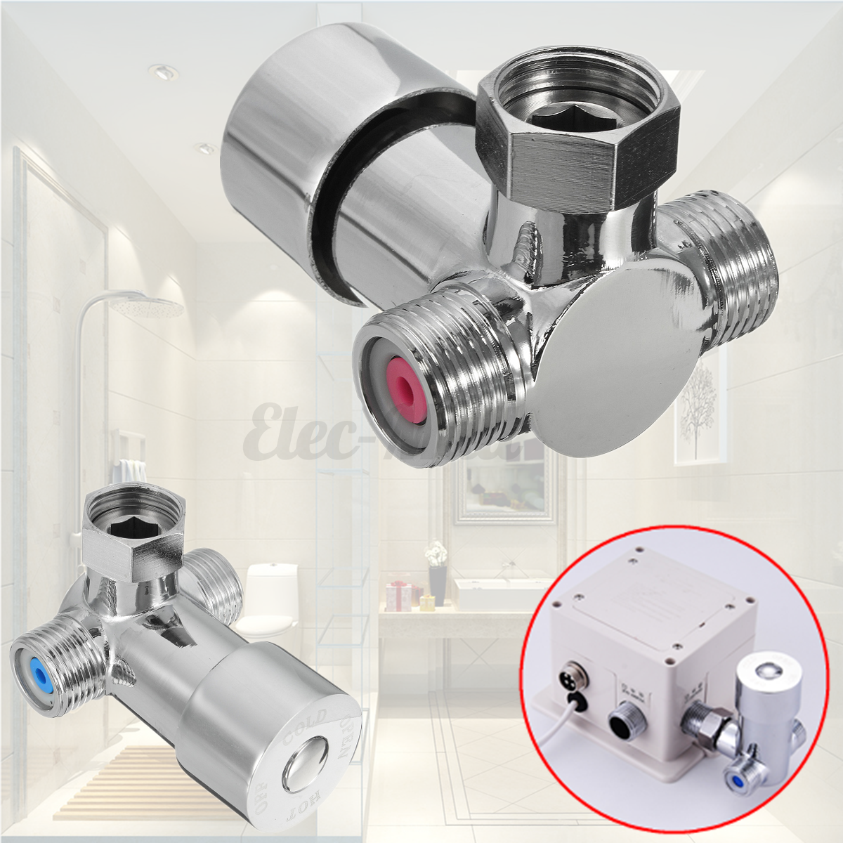 Hot Cold Water Mixing Valve For Sensor Faucet Thermostatic