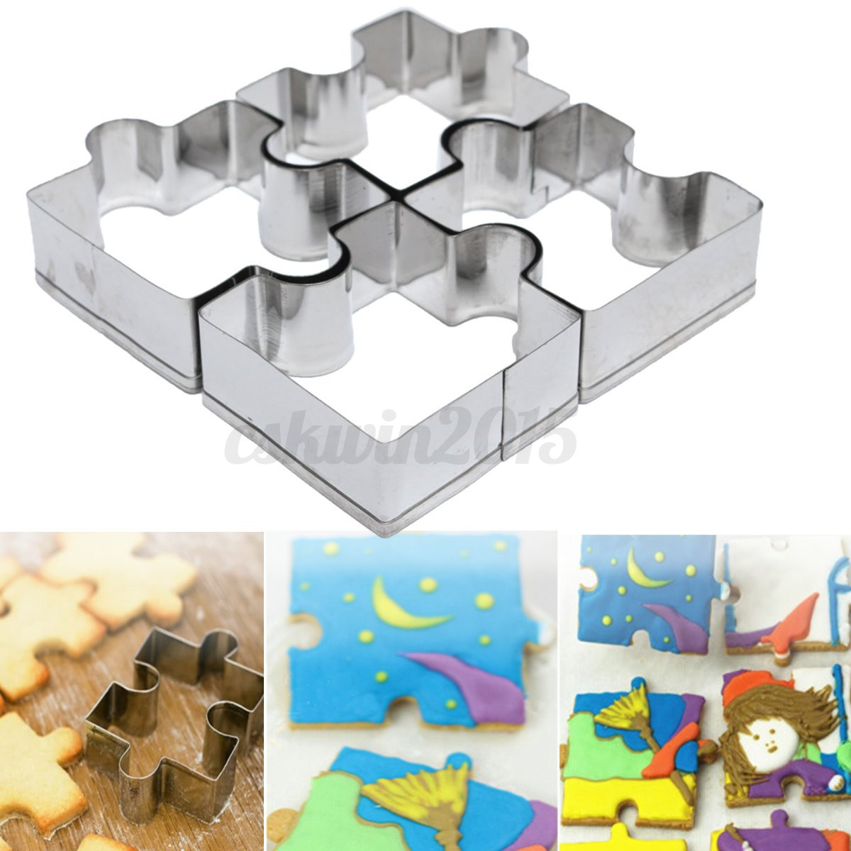 Silver Cake Decoration Crossword Clue : 4x Stainless Steel Puzzle Shape Biscuit Cookies Baking ...