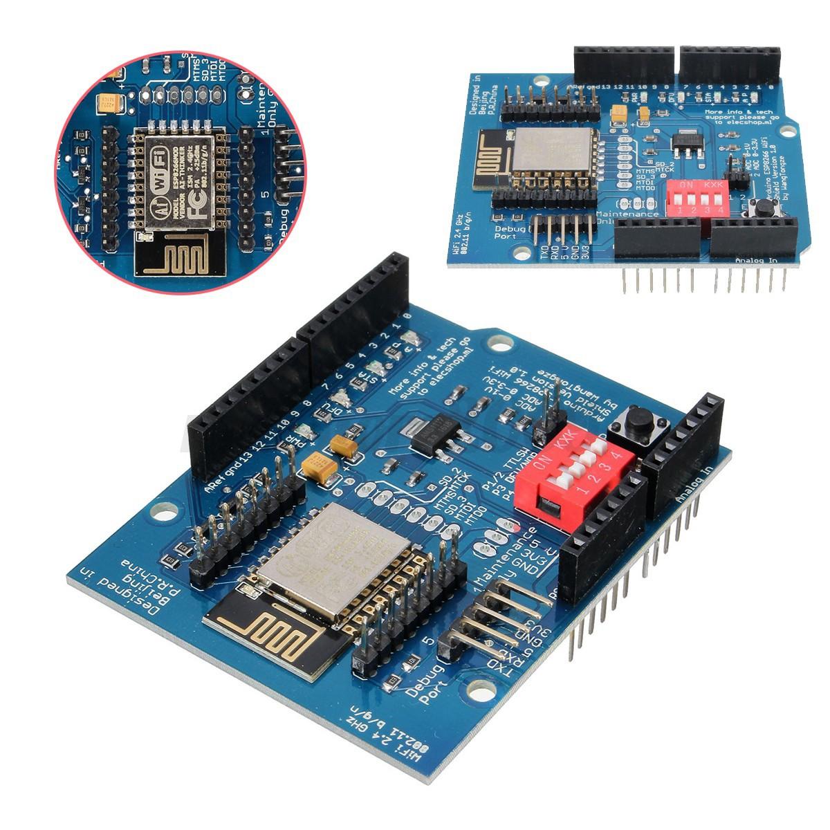 Esp e uart wifi wireless shield ttl converter