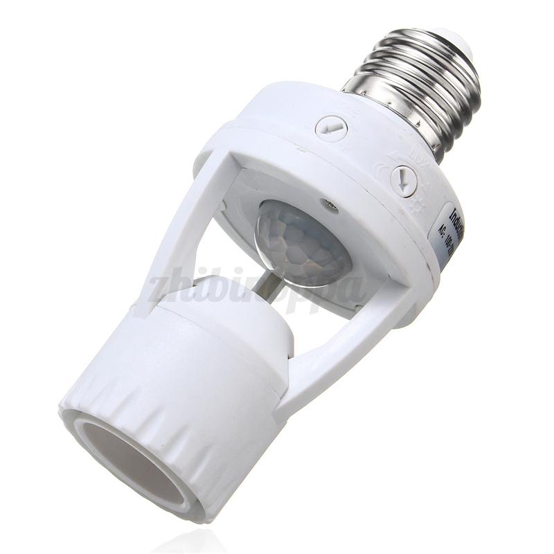 E27/B22 to E14/E27 PIR Induction Motion Sensor Socket ...