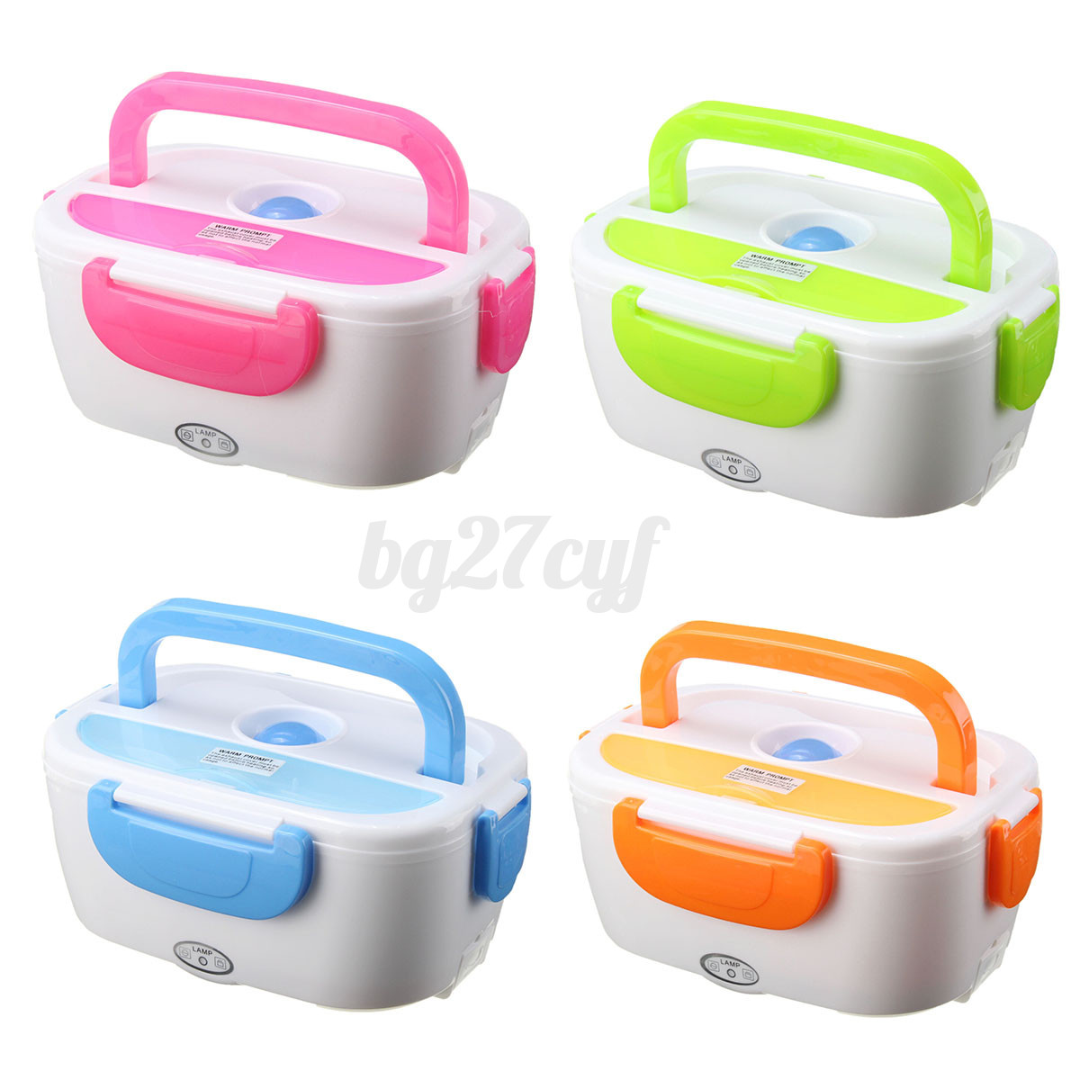Portable Food Warmer Box ~ Portable electric heated car plug heating lunch bento box