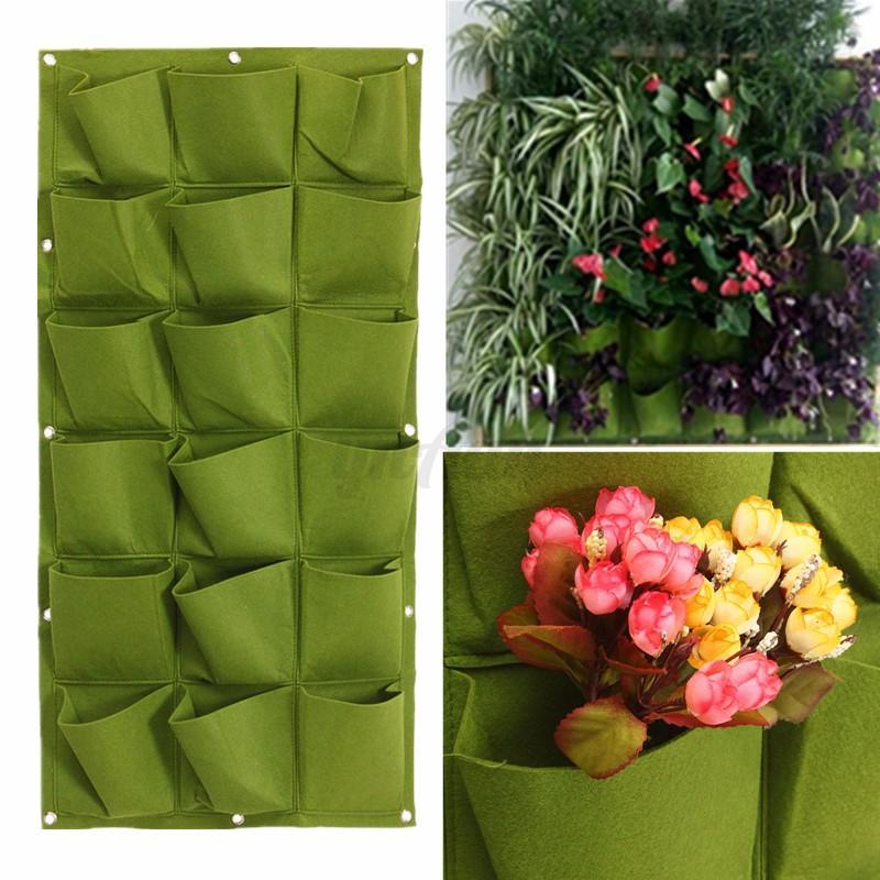 18 tasche pflanztasche pflanzsack pflanzbeh lter pflanzbeutel pflanzenwand gr n ebay. Black Bedroom Furniture Sets. Home Design Ideas
