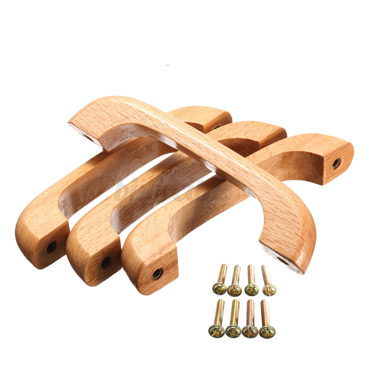 Wooden varnish handles pulls for kitchen cabinet