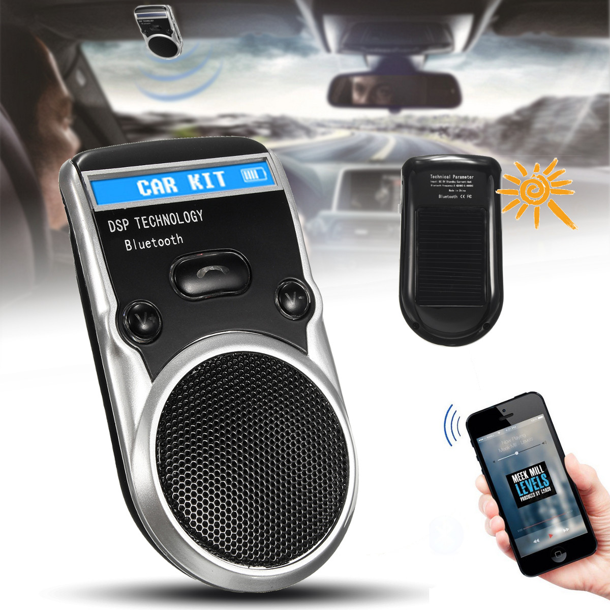 Bluetooth-LCD-Car-MP3-Player-Kit-Radio-Adapter-Hands-free-FM-Transmitter-Lot