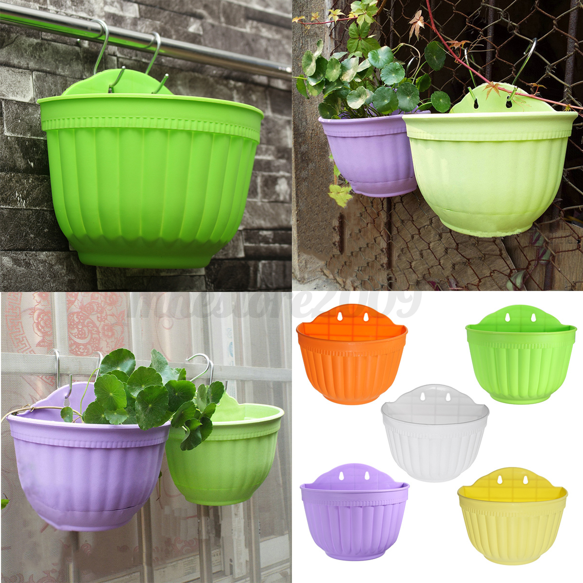 Large Basket Wall Hanging Garden Balcony Home Flower Plant ...
