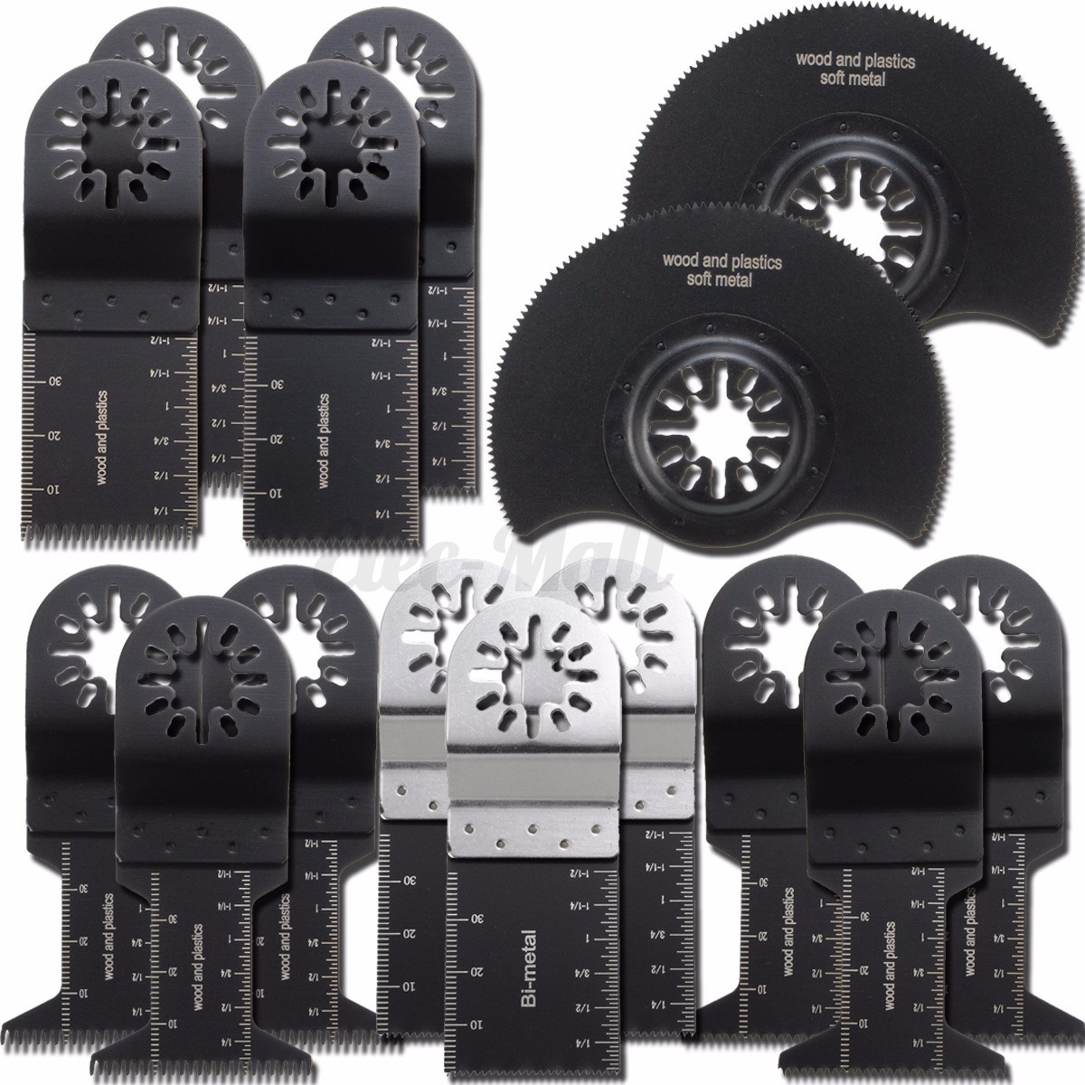 15Pcs Oscillating Saw Blades MultiTool For FEIN MULTIMASTER RIDGID ...