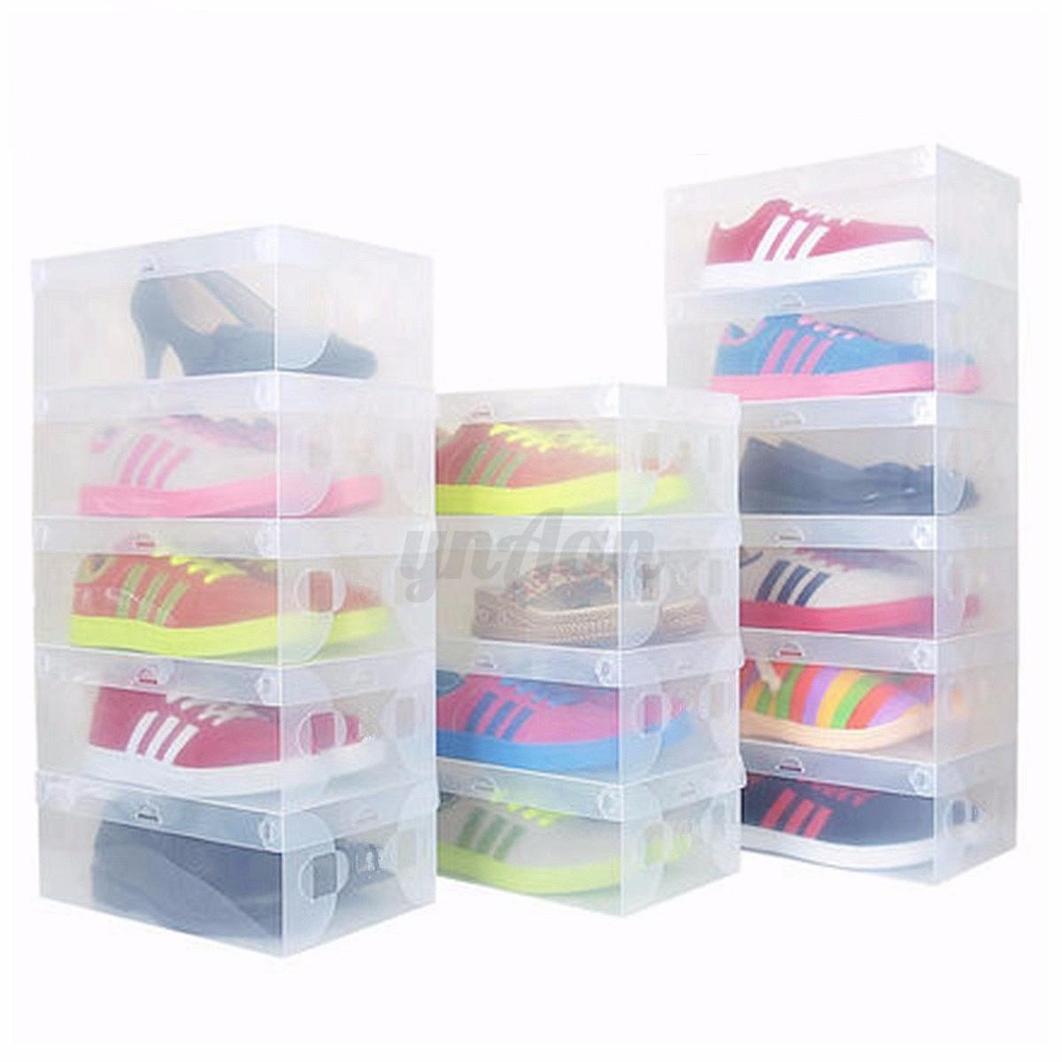 Set scatole porta scarpe trasparente case box contenitore - Scatole scarpe ikea ...