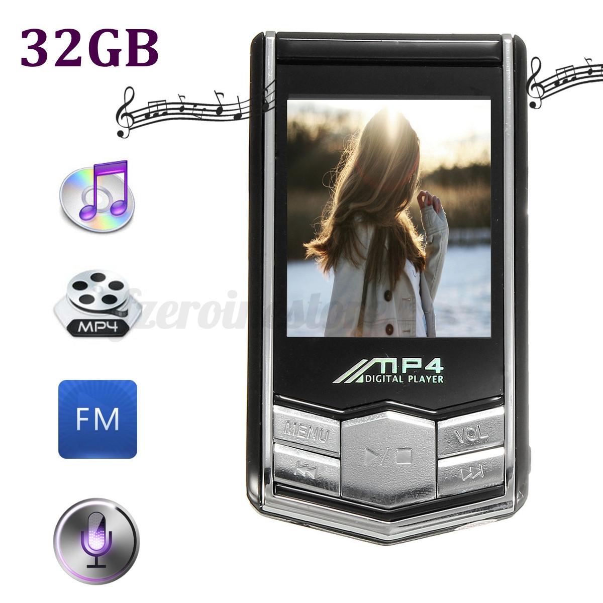 Lcd lettore player mp3 mp4 da 32gb audio video foto radio for Da mp4 a mp3