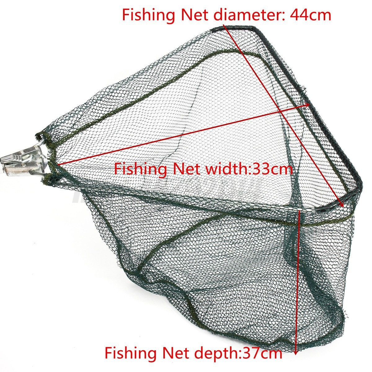 Telescopic folding fishing landing net tele pole mesh for Telescoping fishing net