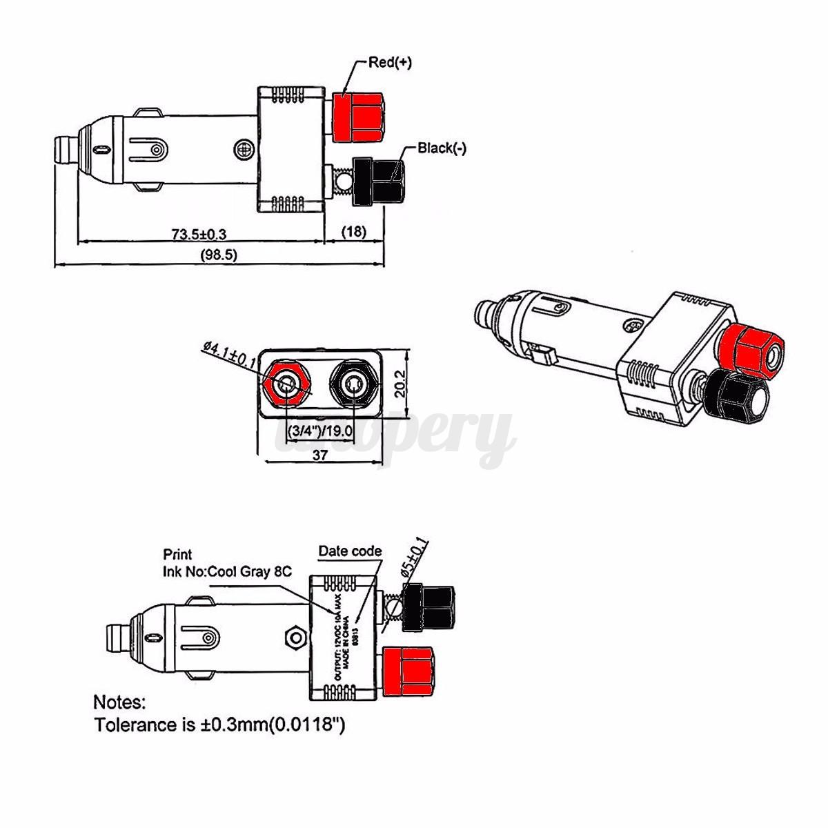 12V 10A Auto Charger Car Van Cigarette Lighter Socket Plug ...