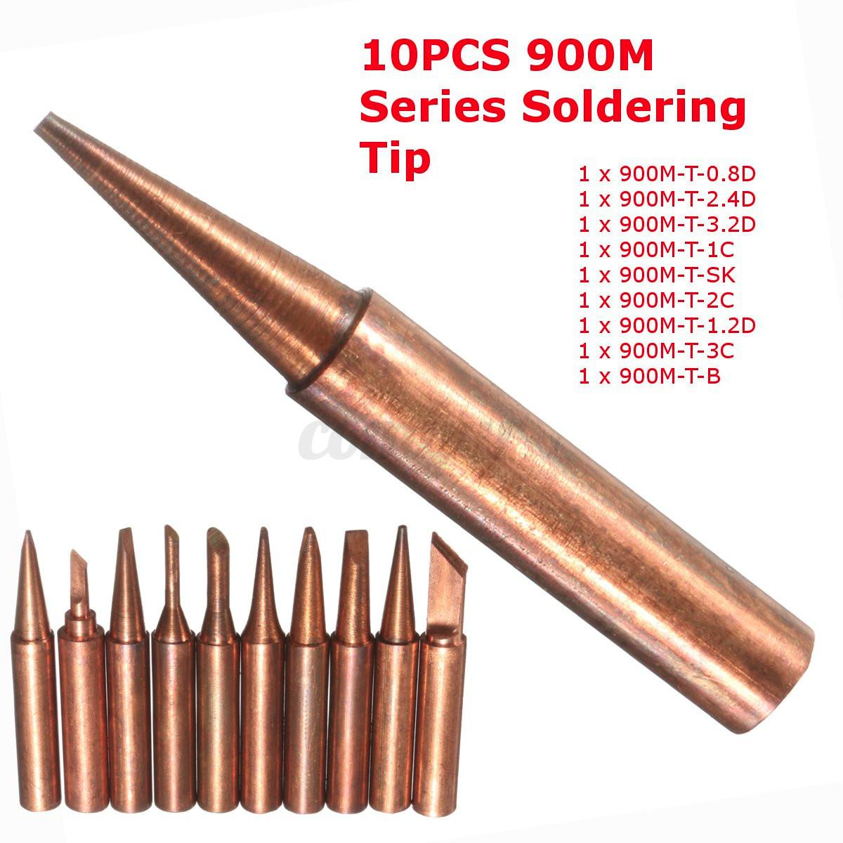 10 pure copper soldering solder iron tip for 900m series 852d iron hot air gu. Black Bedroom Furniture Sets. Home Design Ideas