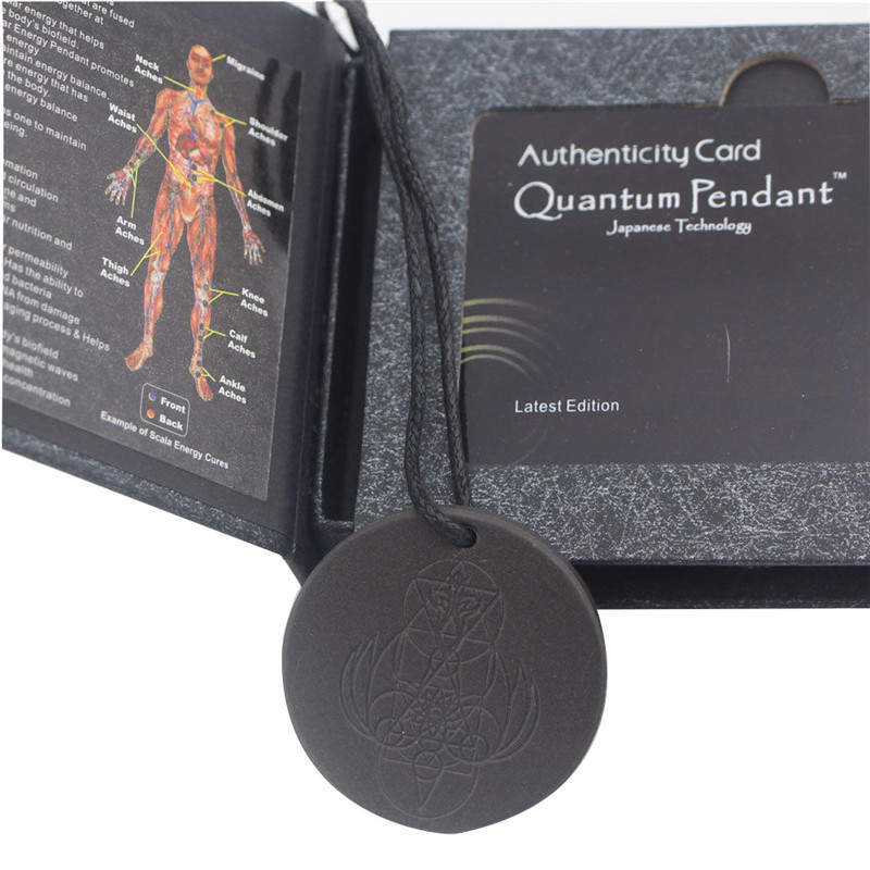 Quantum science power scalar energy pendant negative ions protection detail image aloadofball Gallery