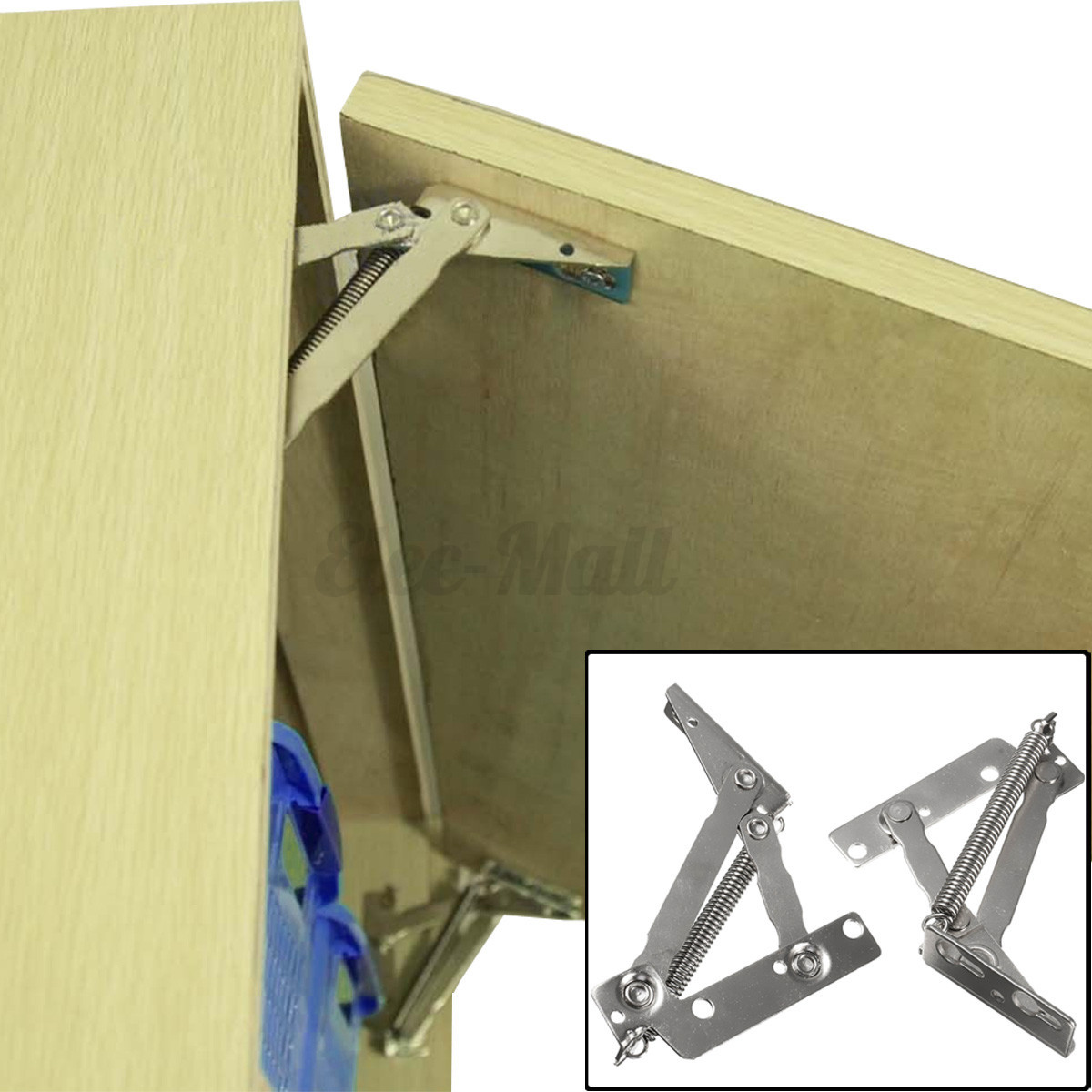 Lift Hinges For Kitchen Cabinets: 2x Cabinet Cupboard Closet Door Lift Up Stay Flap Top