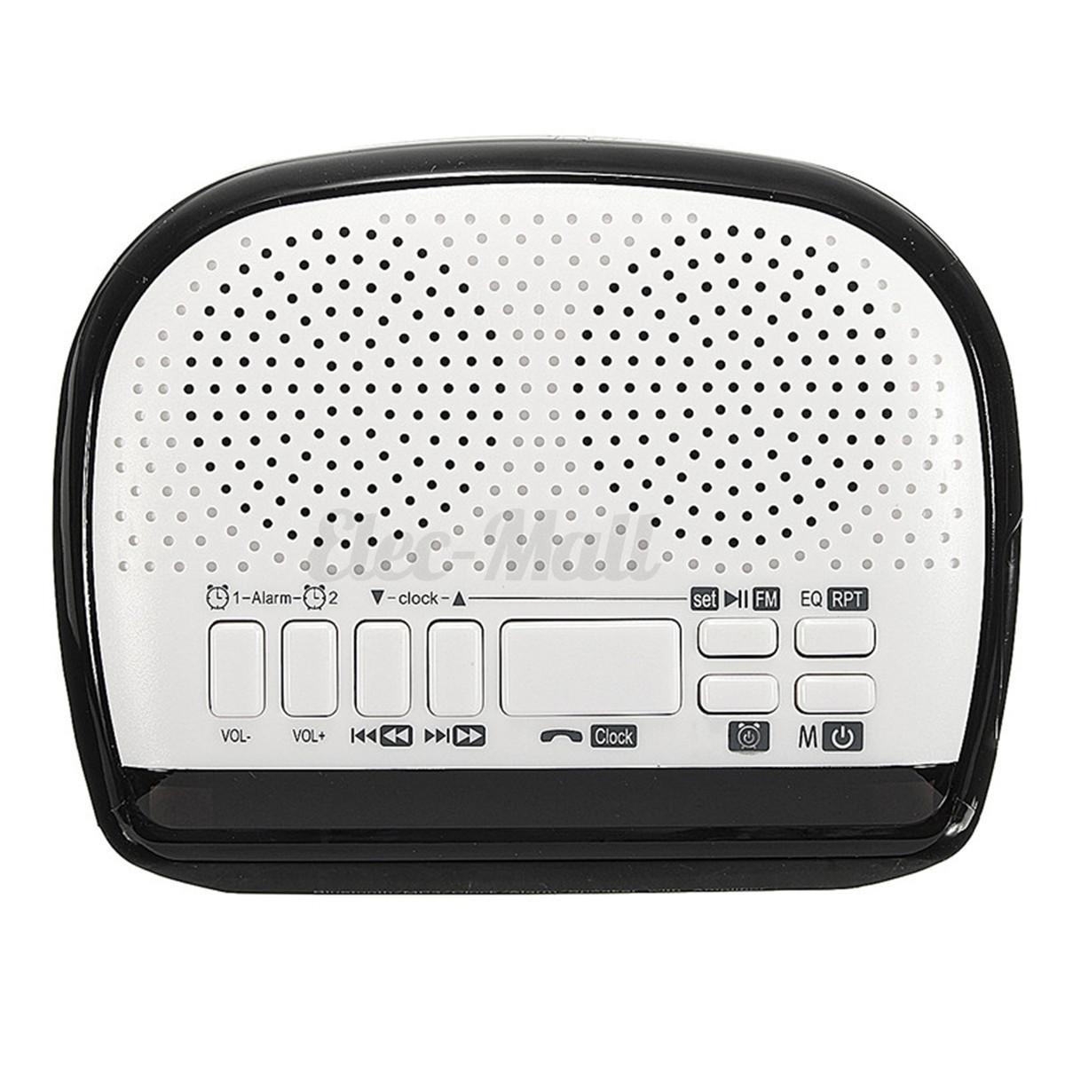 bluetooth digital alarm clock with speaker led display fm radio mp3 player tf. Black Bedroom Furniture Sets. Home Design Ideas