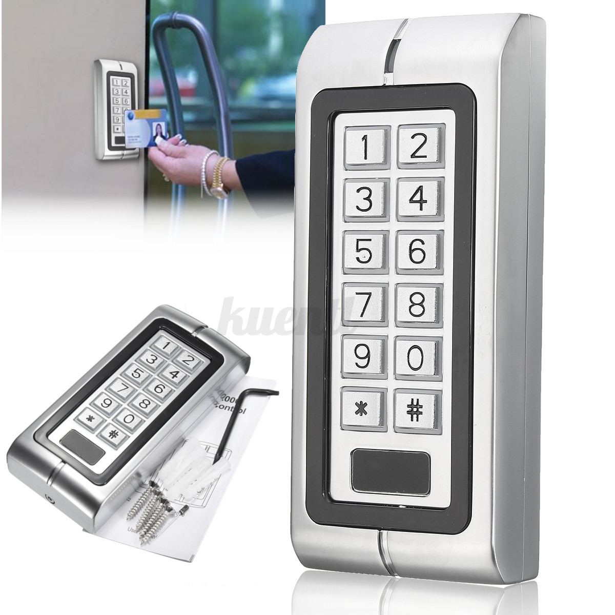 waterproof password keypad card reader entry door lock pc access control system. Black Bedroom Furniture Sets. Home Design Ideas