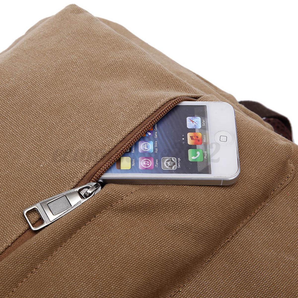 Motorcycle Bookbag ... Vintage Canvas Backpack Bag Rucksack Laptop Satchel Shoulder Bookbag