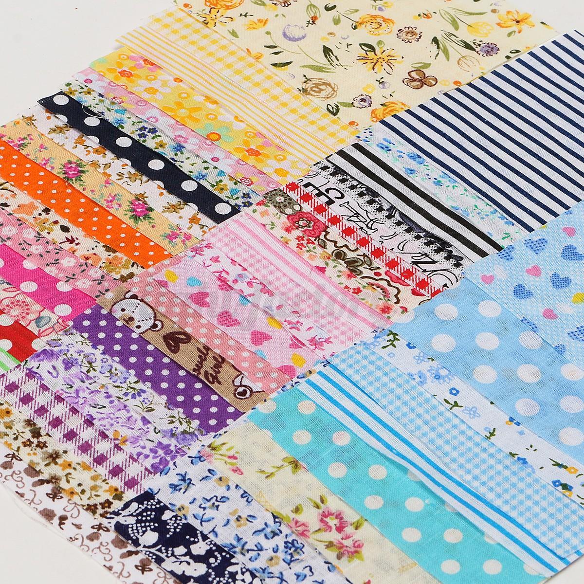 50 x random pattern pre cut cotton fabric bundle patchwork for Random diys