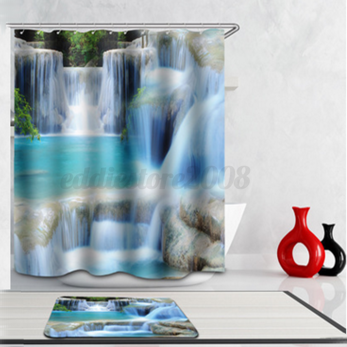 Waterproof Various Pattern Bathroom Washroom Shower Curtain 70\'\'X70 ...