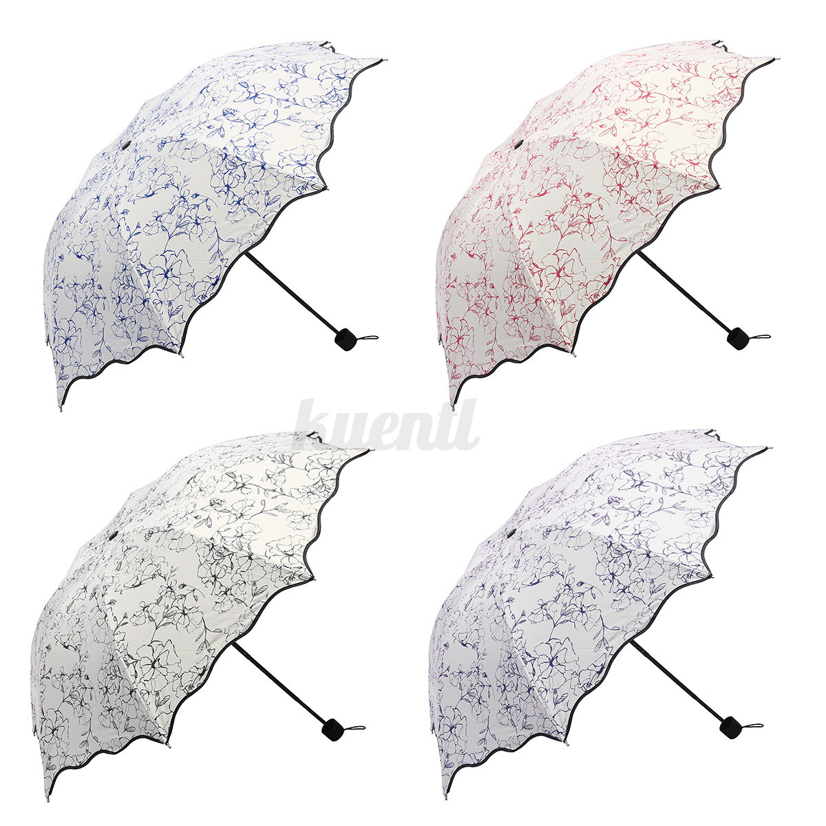 Folding windproof 50 anti uv sun rain travel protection - Parasol anti uv 50 ...