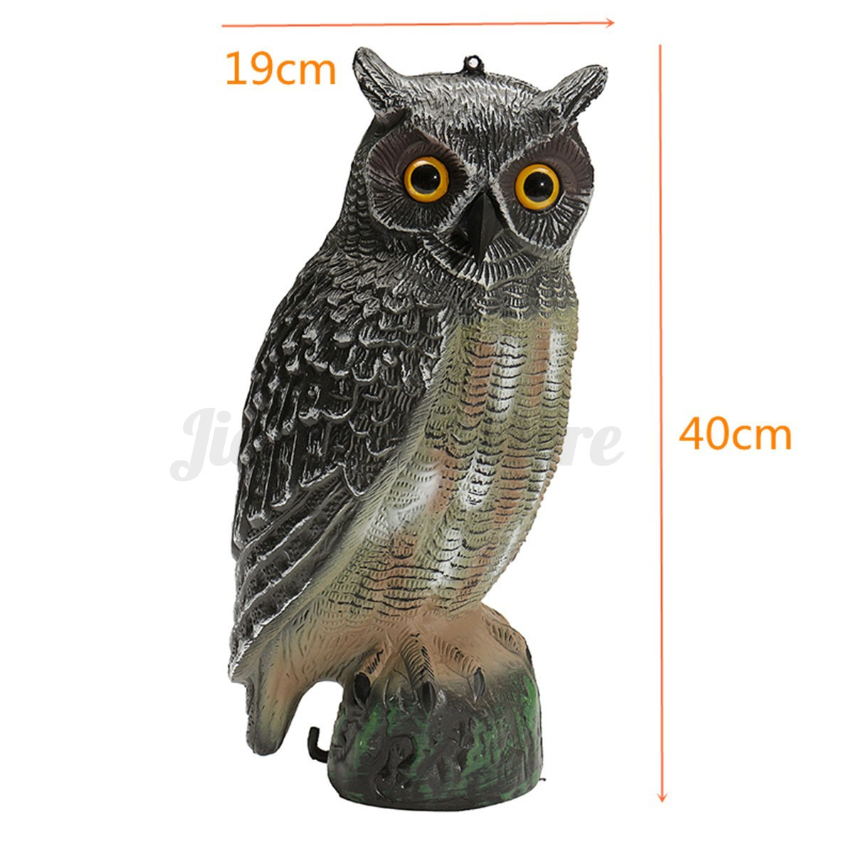 Fake standing owl garden decor bird repeller hunting for Owl fish store