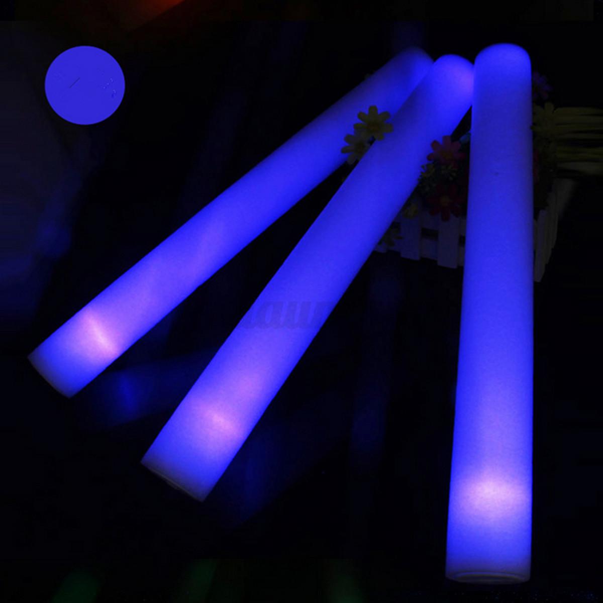 1 12 30pcs light up multicolor led foam wands flashing for Led wands wholesale