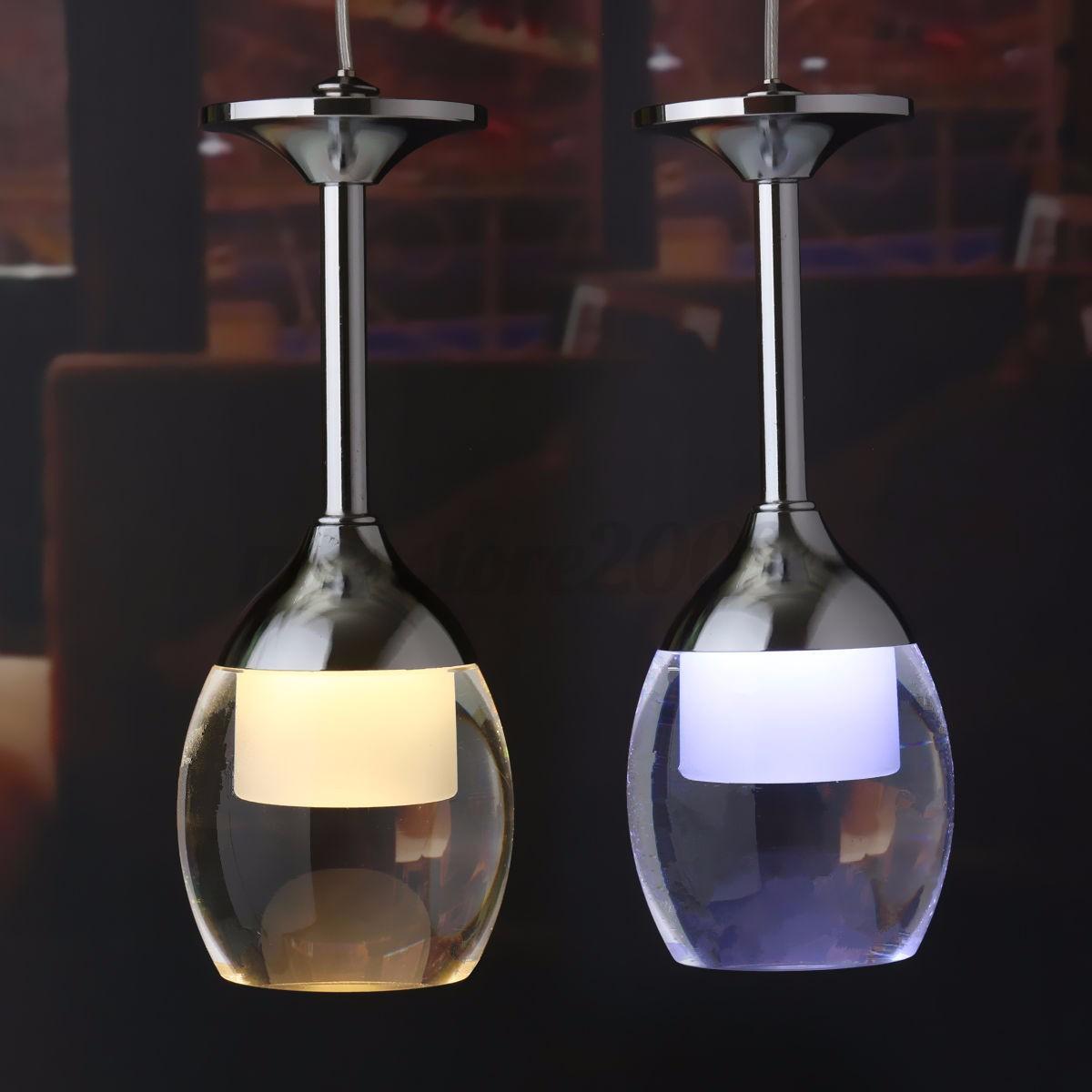 Modern Led Wine Glass Ceiling Light Pendant Lamp Fixture