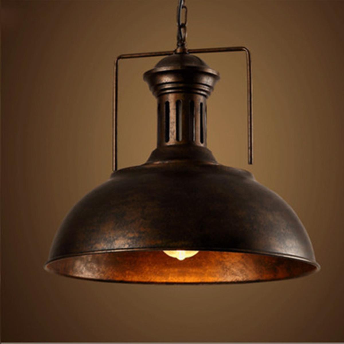 Vintage Industrial Pendant Ceiling Light Fixture Lamp Shades