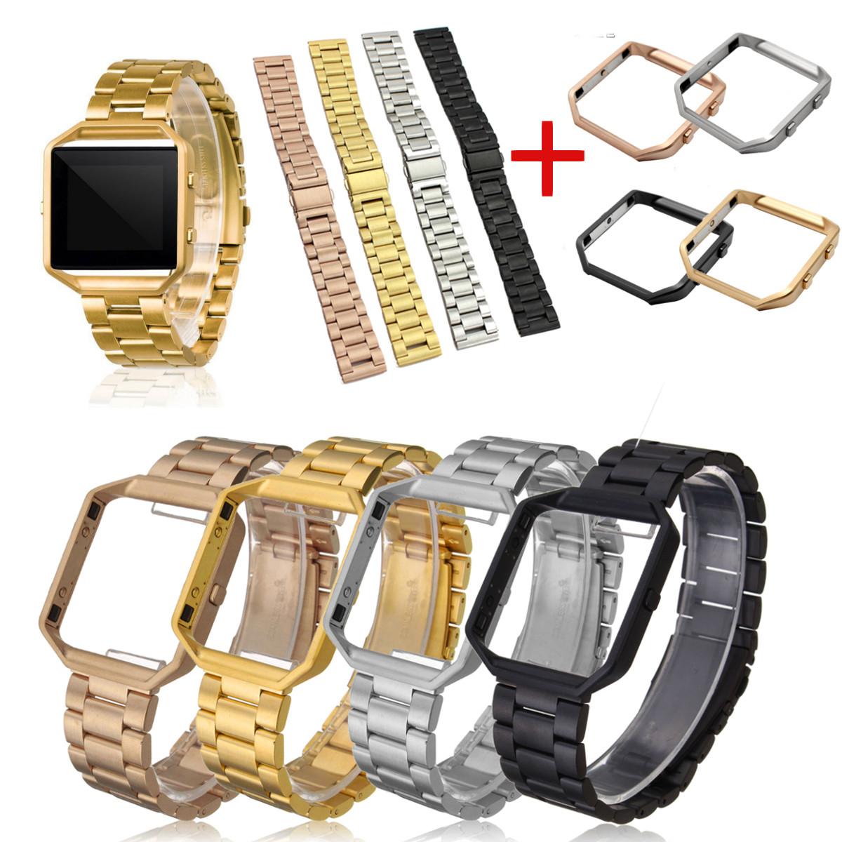 Remplacement-Acier-Inox-Bracelet-de-Montre-Intelligent-Pour-Fitbit-Blaze-Frame