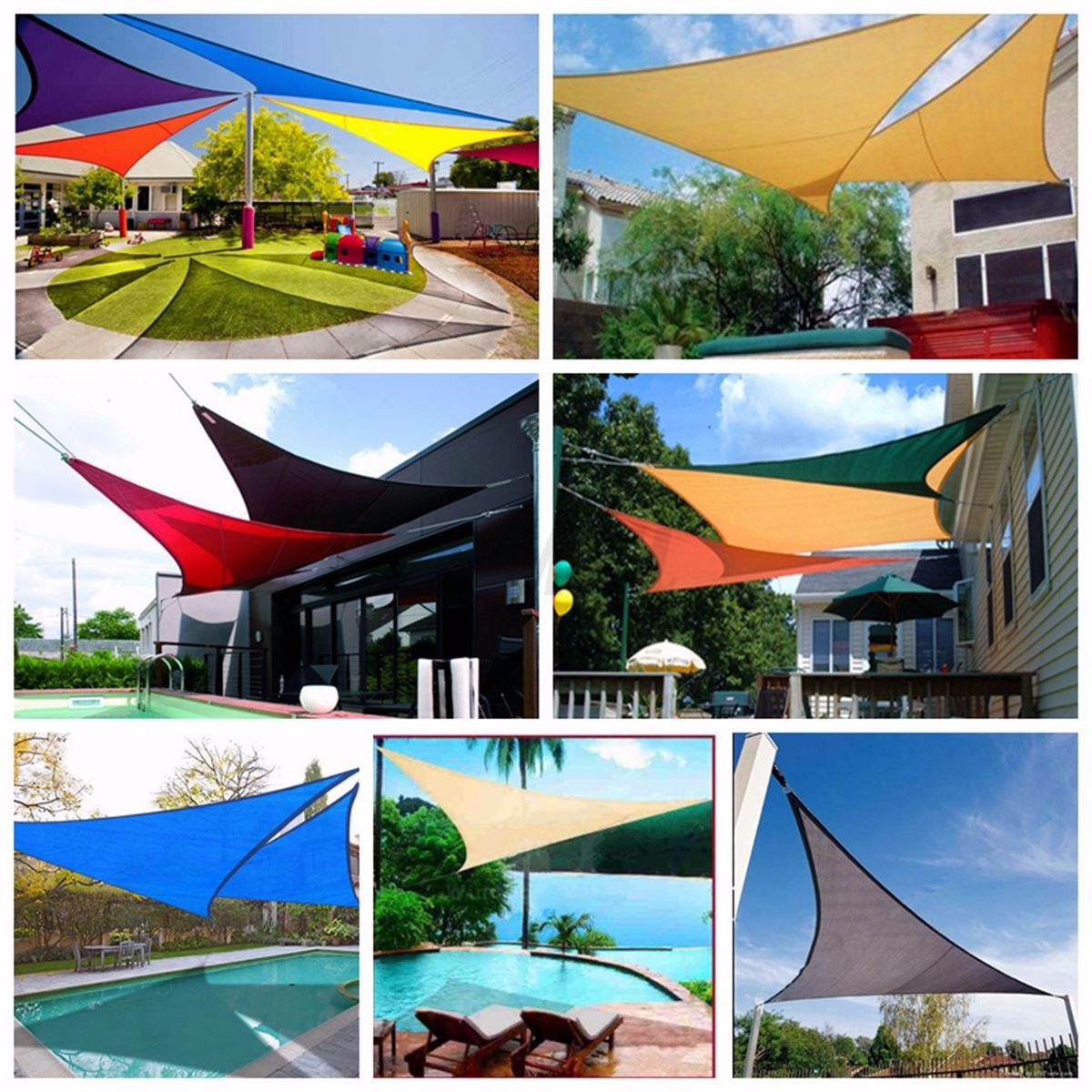Waterproof Sun Shade Sail Garden Patio Awning Canopy ...