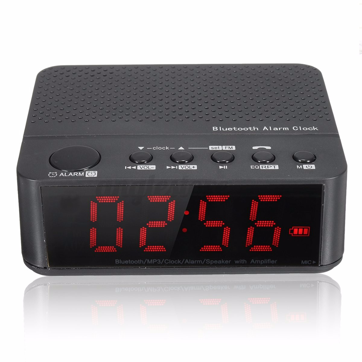bluetooth digital led display alarm clock speaker amplifier fm radio mp3 player ebay. Black Bedroom Furniture Sets. Home Design Ideas