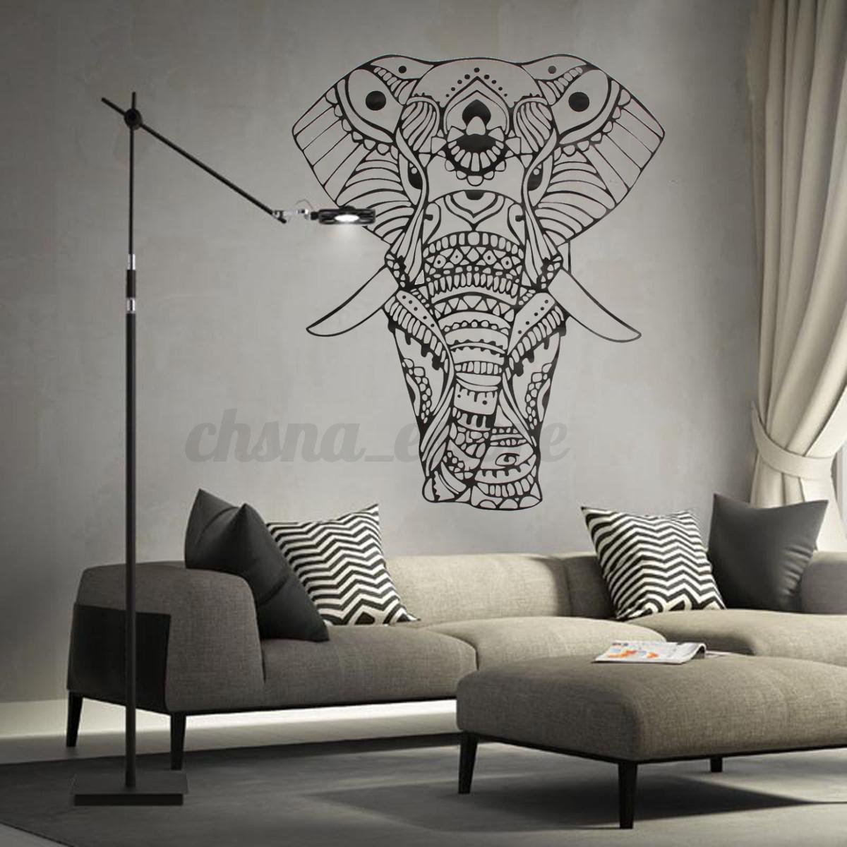 Indian vinilo pegatina de pared elefante hogar adhesivos for Decoracion paredes vinilos adhesivos