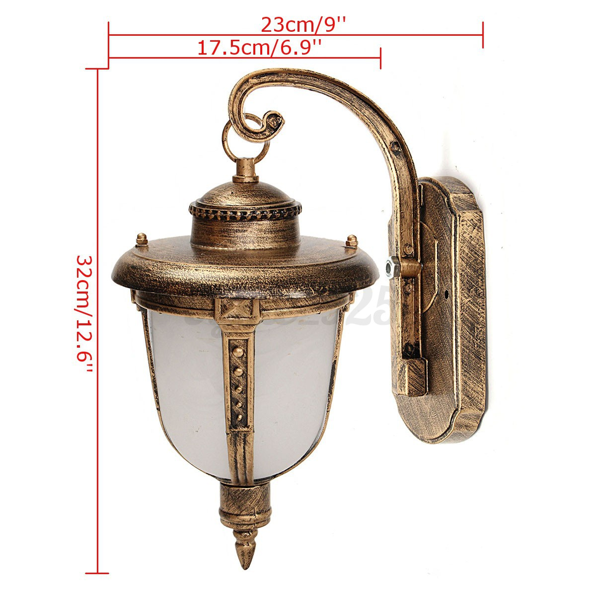 220v vintage exterior wall post lighting sconce hanging landscape garden lamp ebay for Exterior light sconce