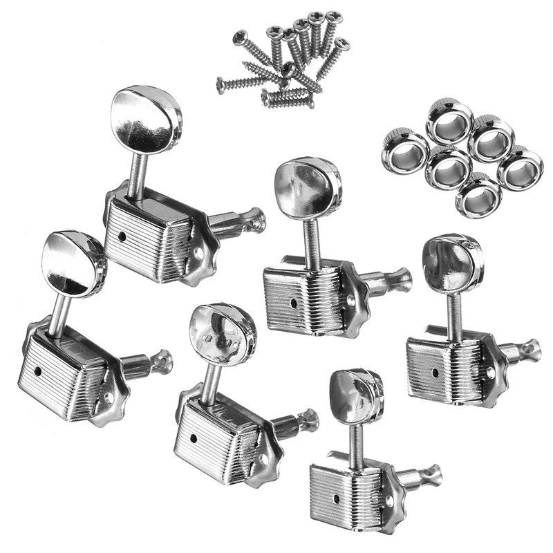 6pcs guitar tuning pegs tuners machine heads for fender replacement. Black Bedroom Furniture Sets. Home Design Ideas