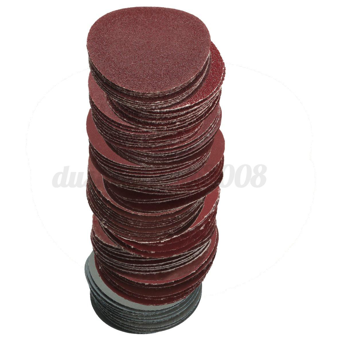 10pcs 50mm feuille papier de verre rond disque polissage pon age grit 80 3000 ebay. Black Bedroom Furniture Sets. Home Design Ideas