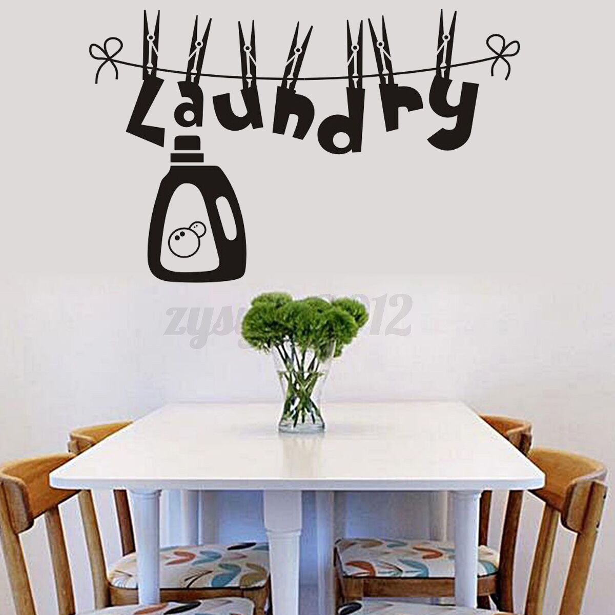 laundry room wall sticker removable wallpaper art mural
