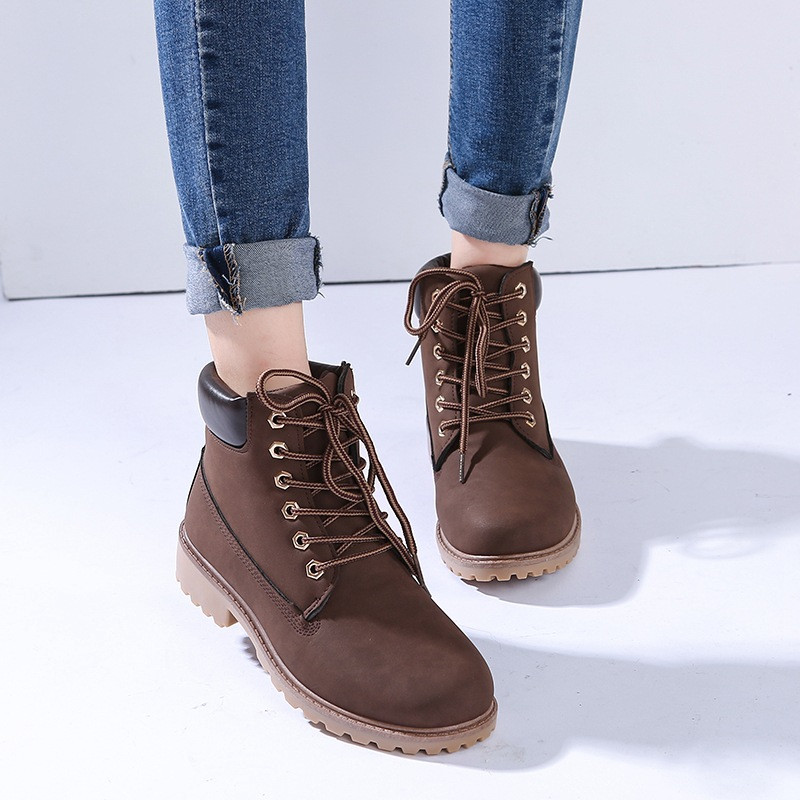 d719530f49ac New Women s Work Boots Winter Leather Boot Lace up Outdoor Waterproof Snow  Boot