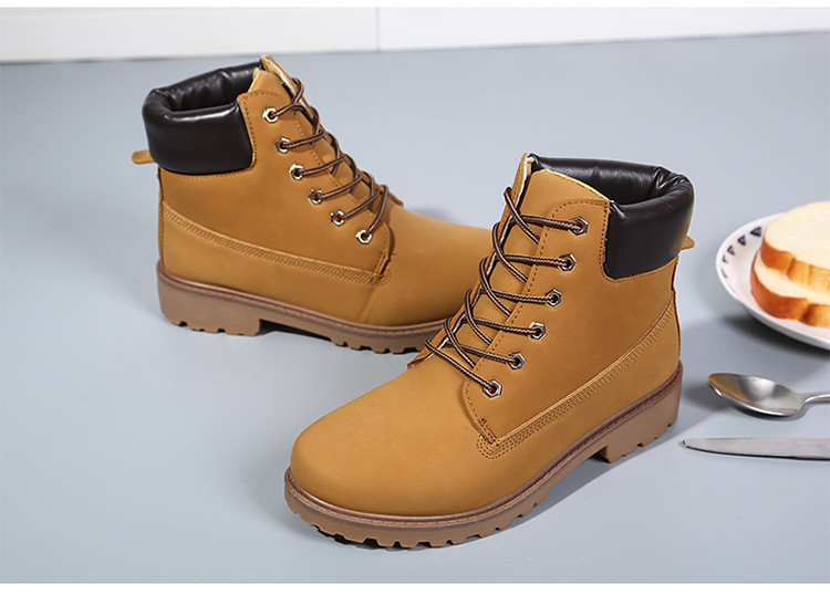 b478e49b009 NEW Winter Womens Leather Work Boots Outdoor Waterproof Snow Shoes Rubber  Combat