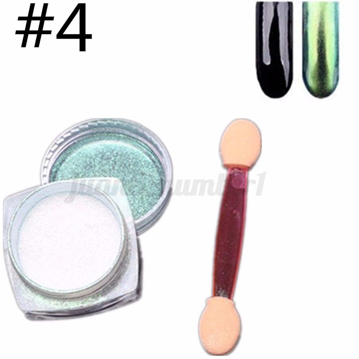 6 12 colori specchio polvere unghie effetto cromato mirror powder nail art set ebay - Polvere effetto specchio unghie ...