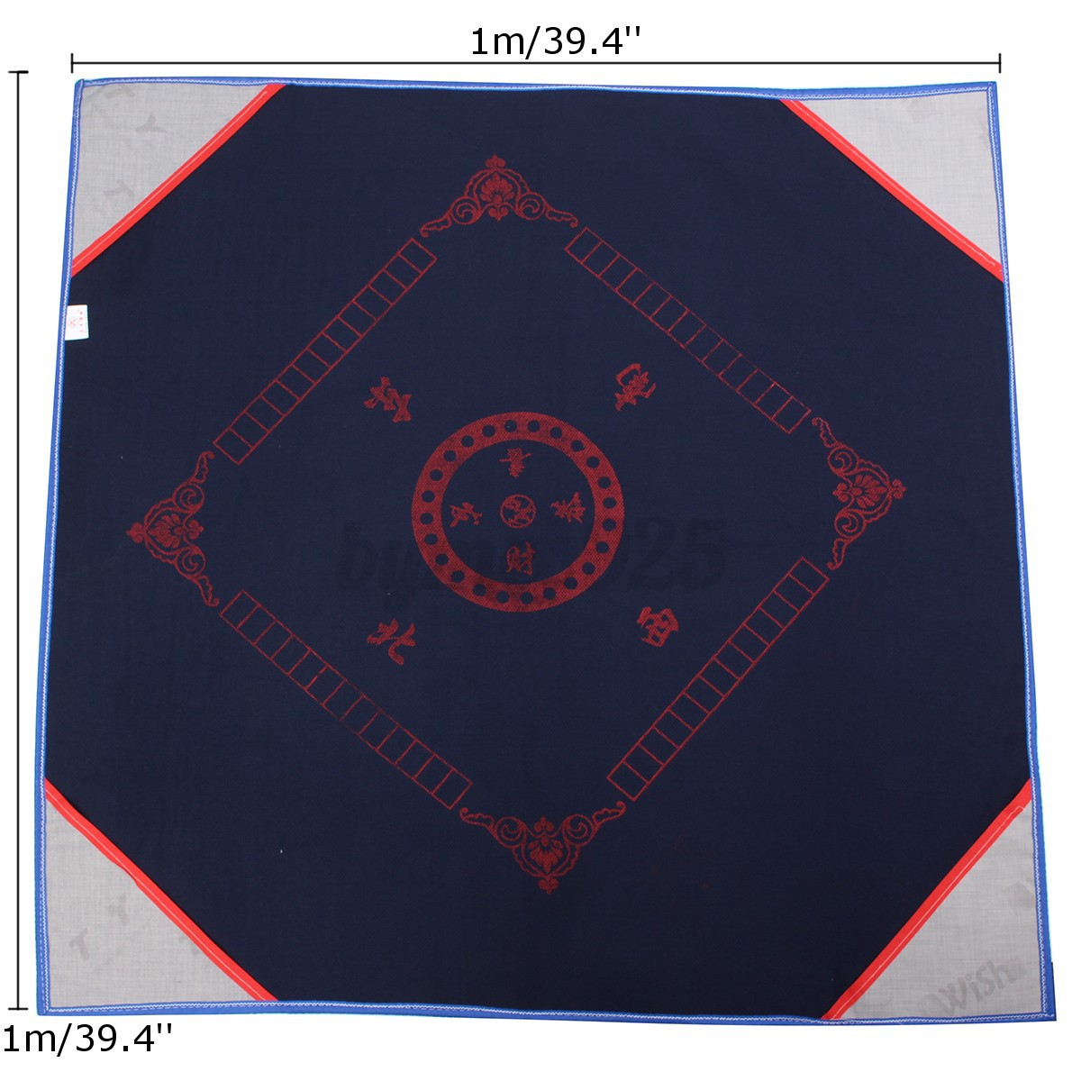 Mahjong Table Mat 1m Mahjong / Card / Game Table Cover Tablecloth Reduce Noise with ...