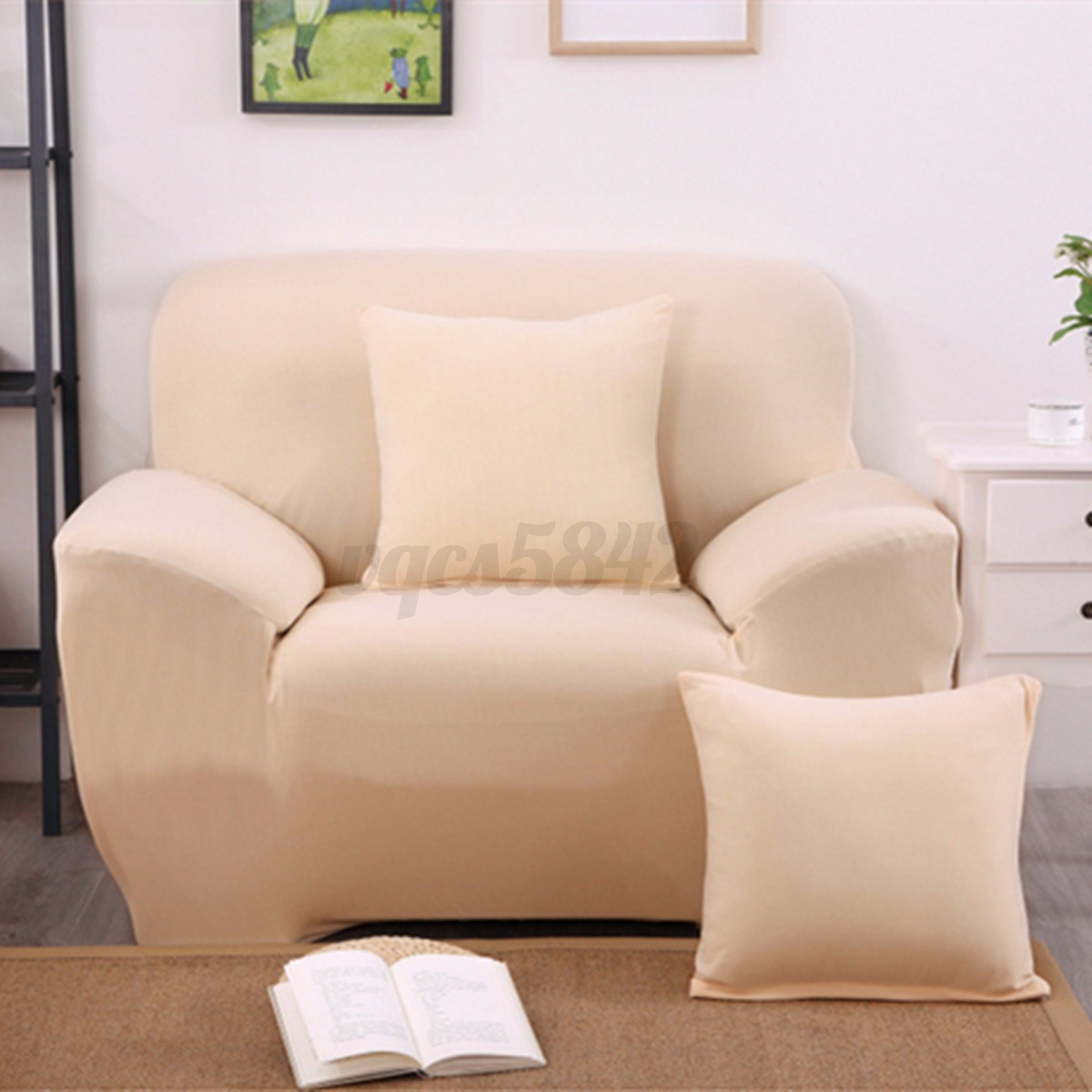 1 2 3 seat l shape sectional sofa couch cover stretch elastic fabric slipcover ebay. Black Bedroom Furniture Sets. Home Design Ideas
