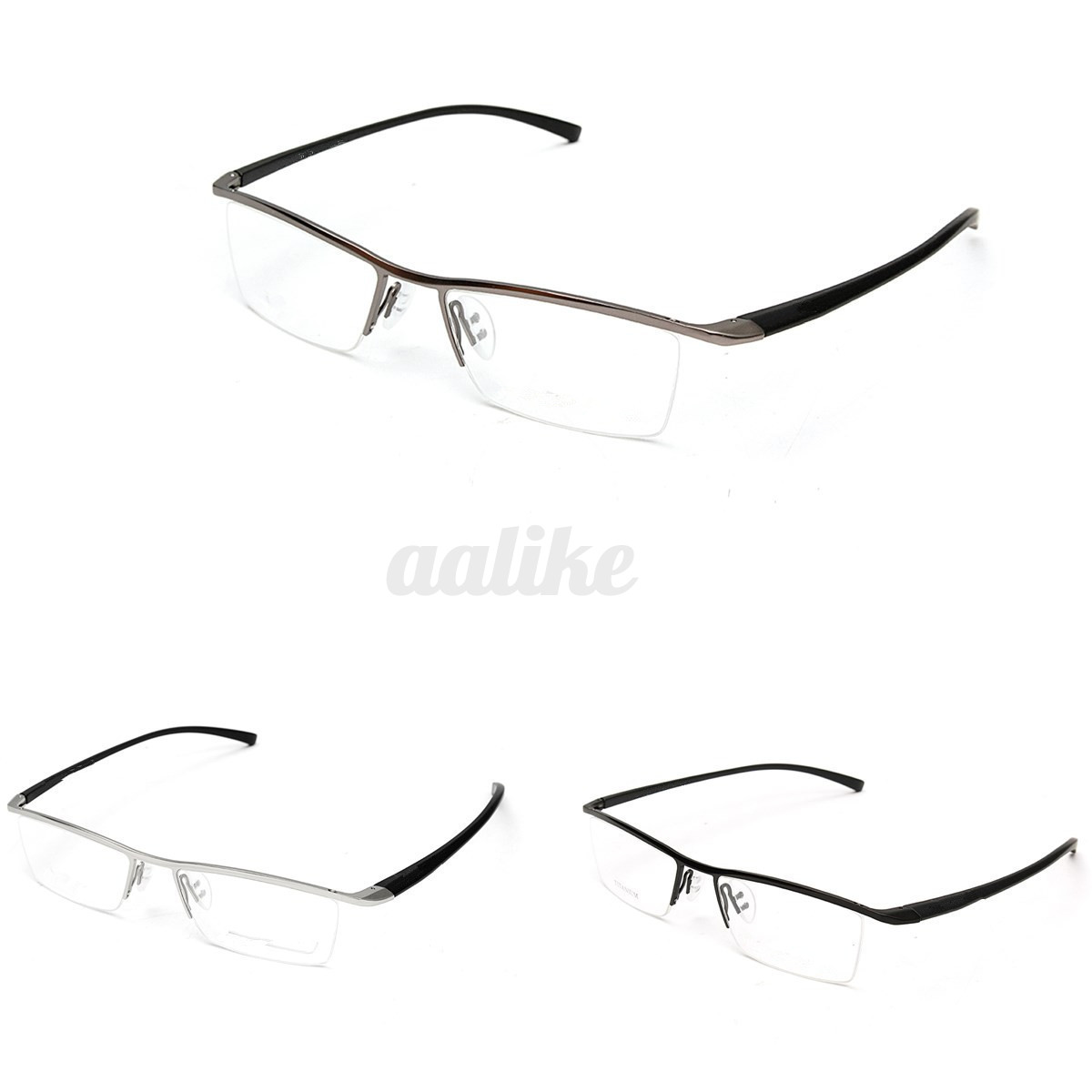 Understanding Eyeglass Frame Measurements : Men Titanium Alloy Spectacles Glasses Frame Half-Rim ...