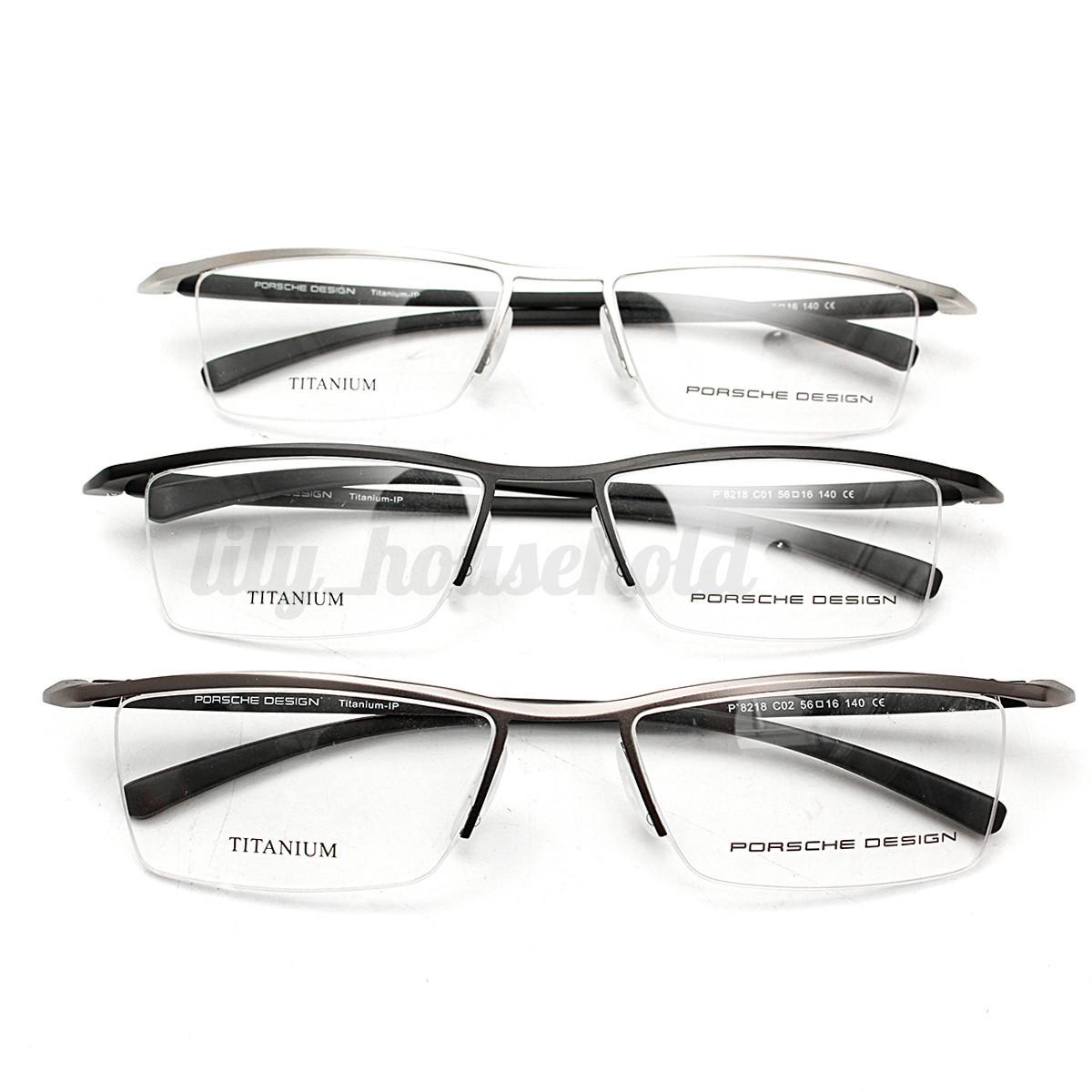 Herren Damen Titanlegierung Brille Brillengestell Metall ...