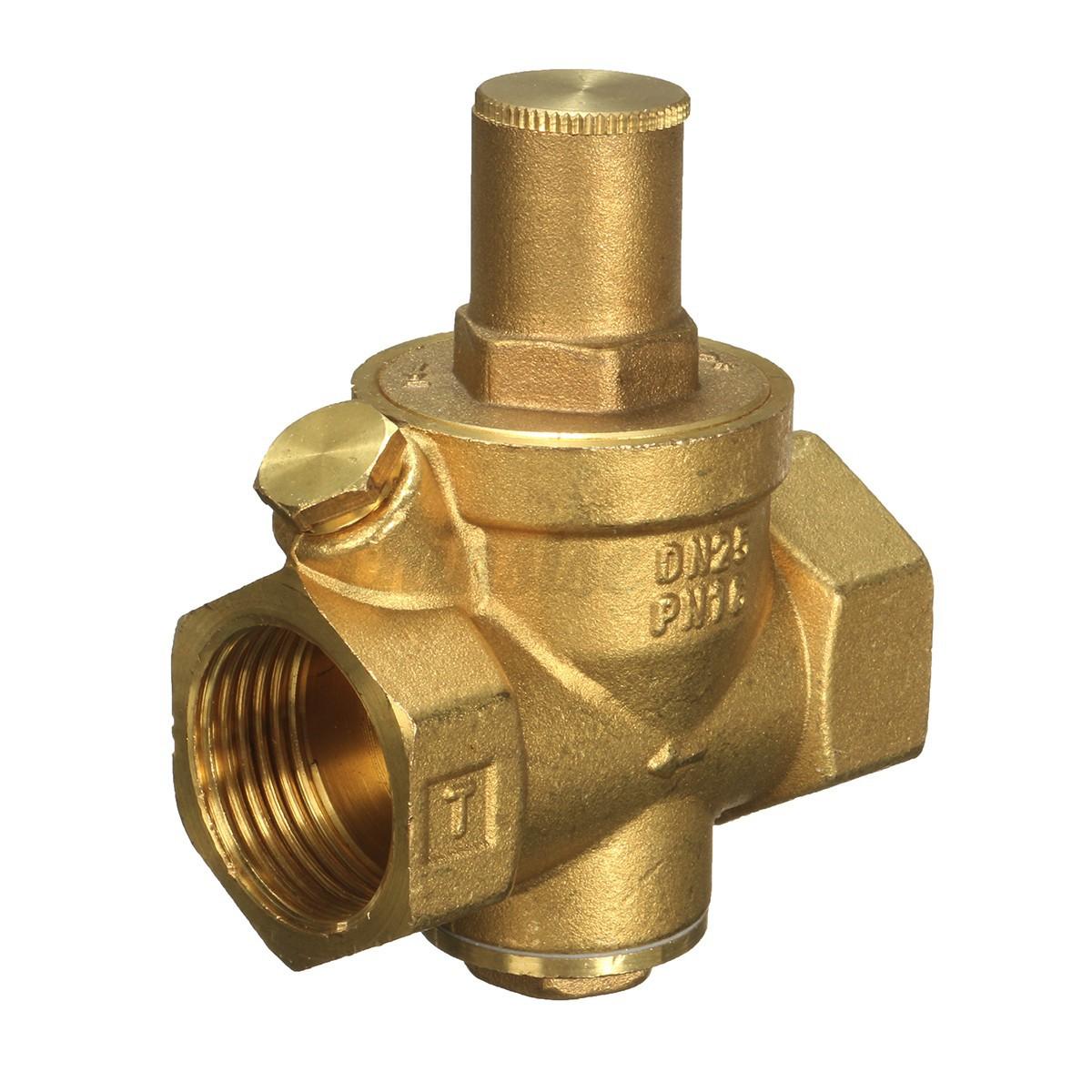dn25 pressure reducing valve brass water flow with adjustable gauge wrench us ebay. Black Bedroom Furniture Sets. Home Design Ideas