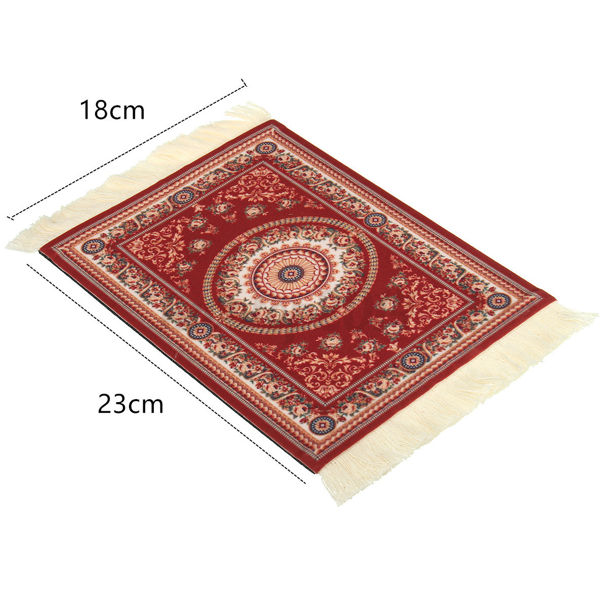 Retro Bohemia Persian Mouse Pad Flower Mousepad Red Cup ...