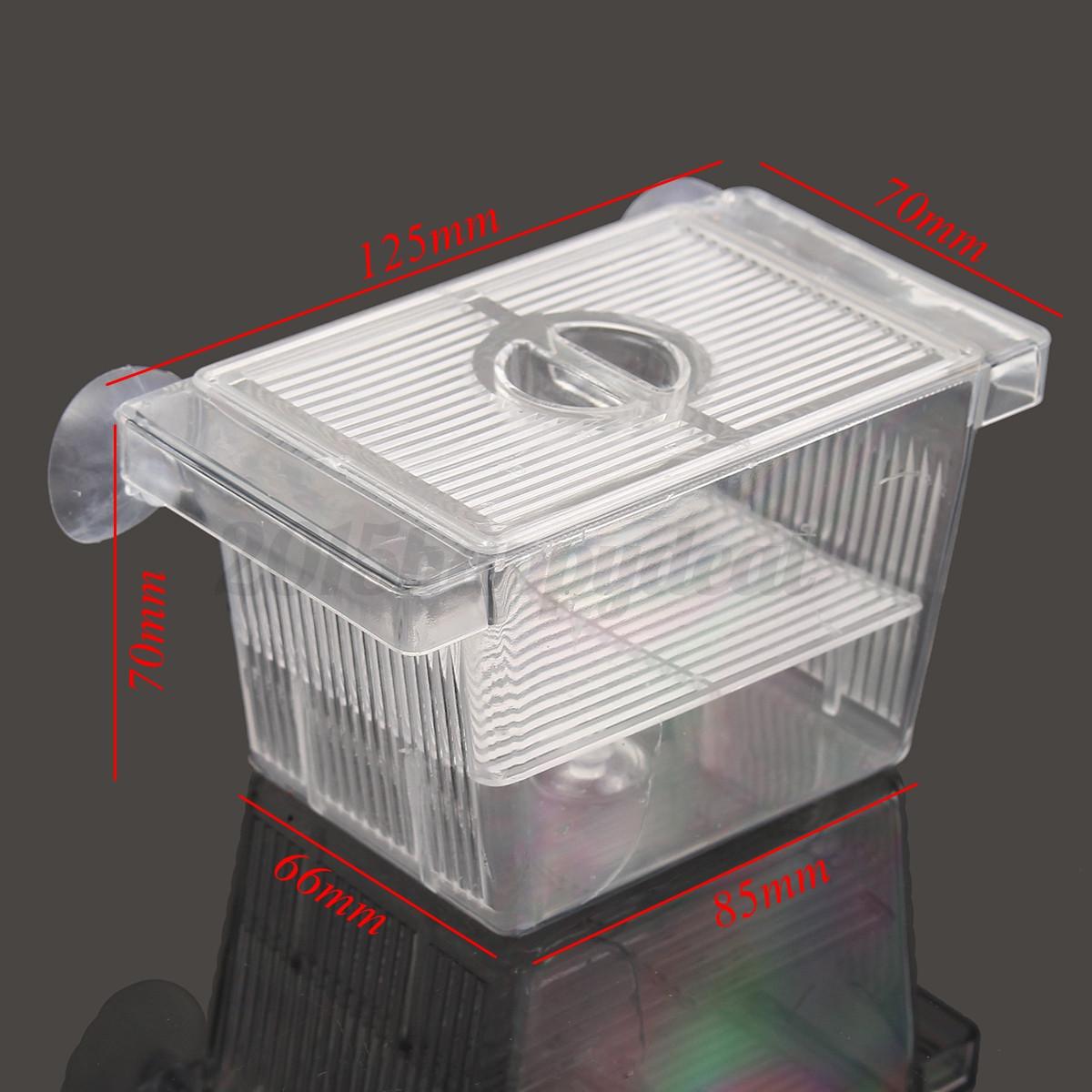 Aquarium fish tank breeding isolation guppy double rearing for Fish breeder box
