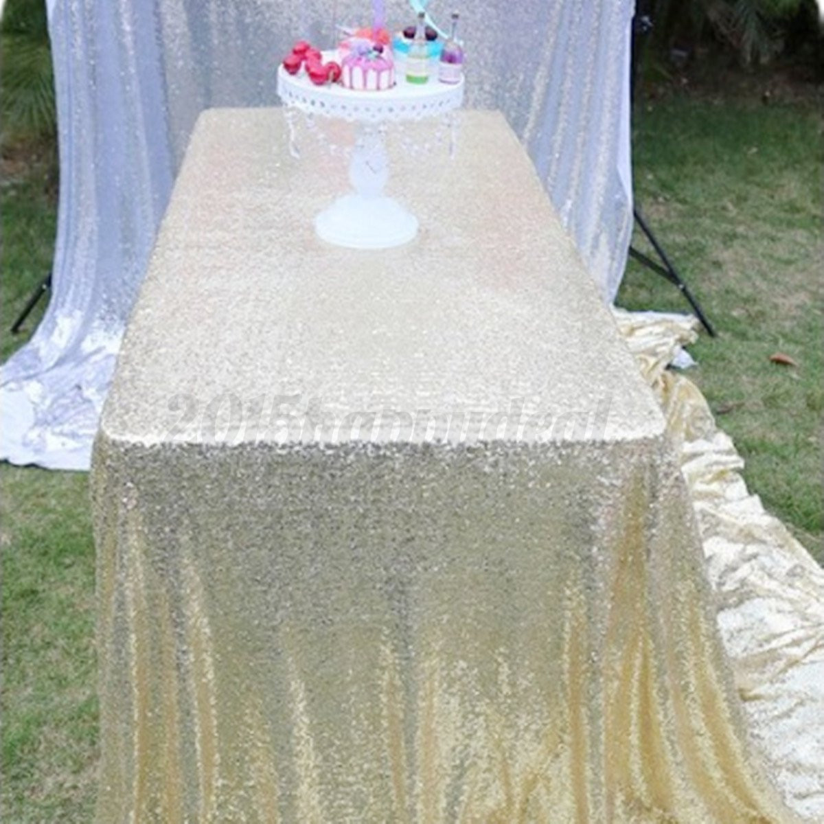 128x115cm lentejuelas manteles de comedor mesa tela for Tela para manteles de mesa